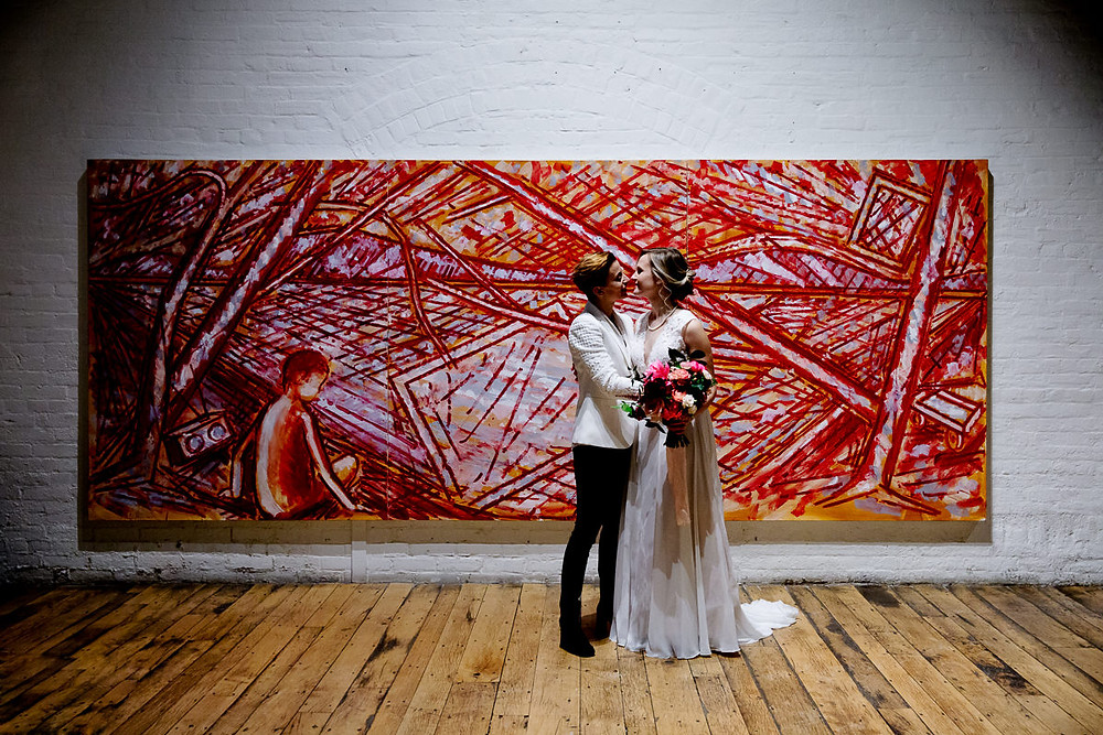 toronto distillery district wedding