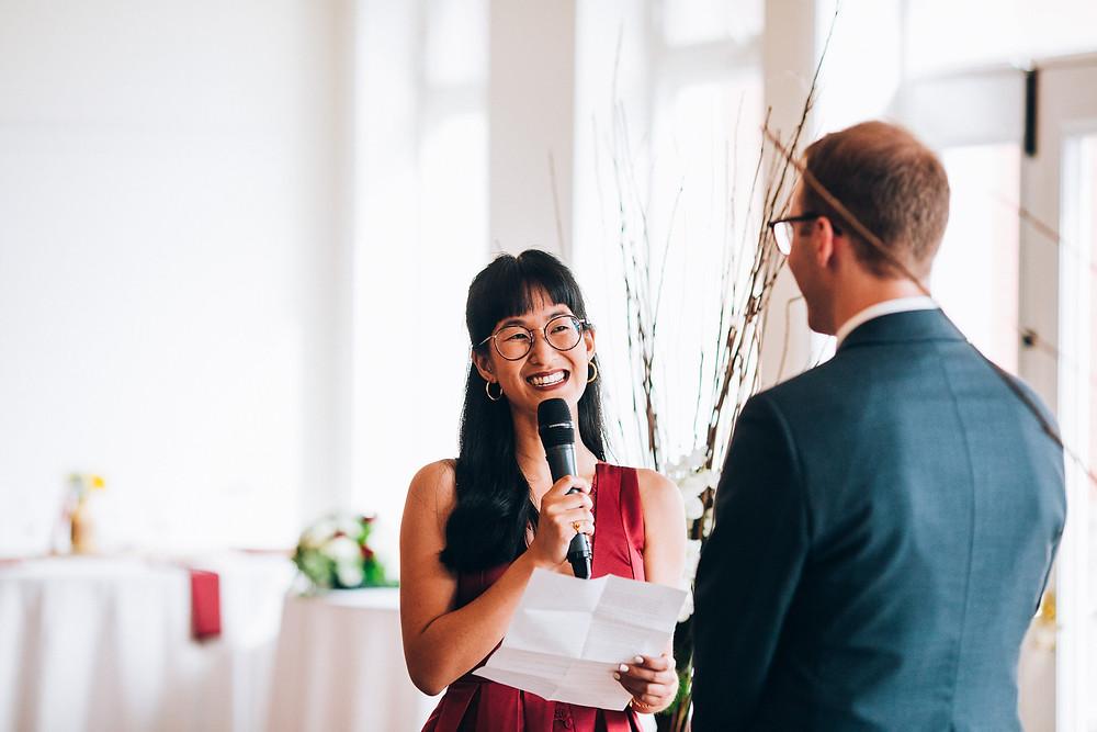 bride citing wedding vows