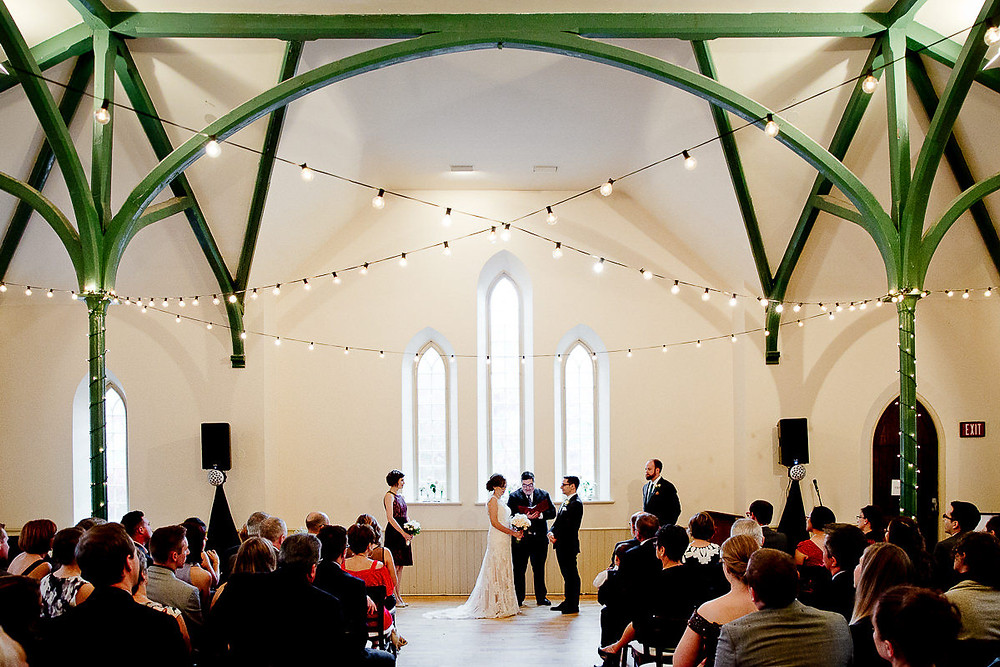 enoch turner schoolhouse wedding ceremony