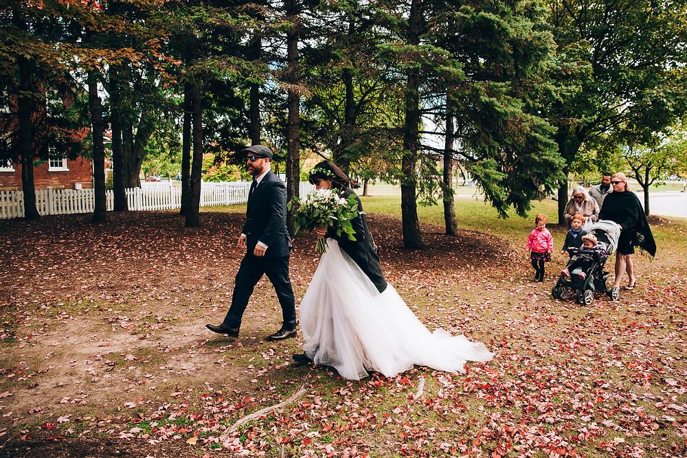 Toronto autumn park wedding