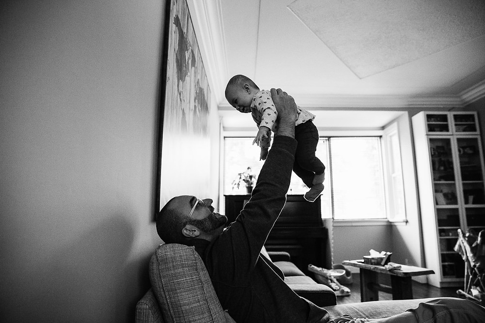 baby and father photography