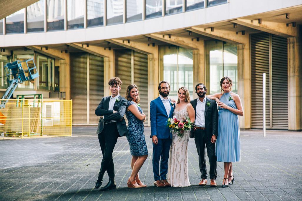 wedding part portrait at Toronot ciyt hall
