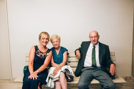 family waiting before wedding
