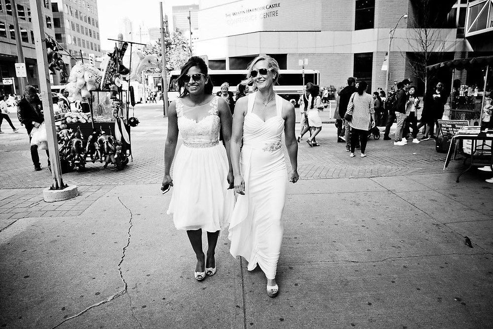 brides going to Toronot Island Ferry