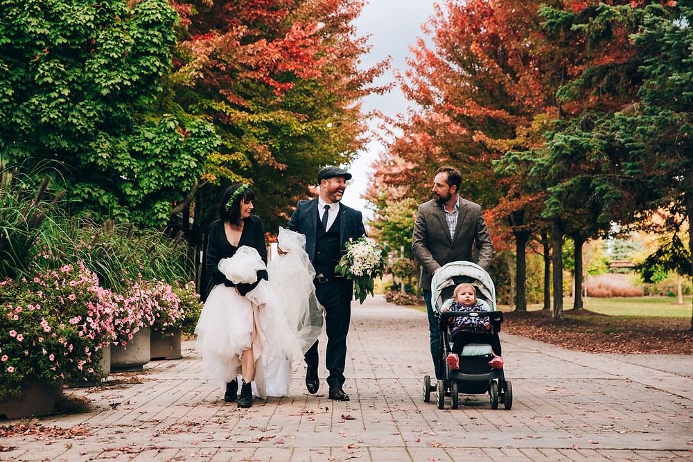 Toronto autum park wedding
