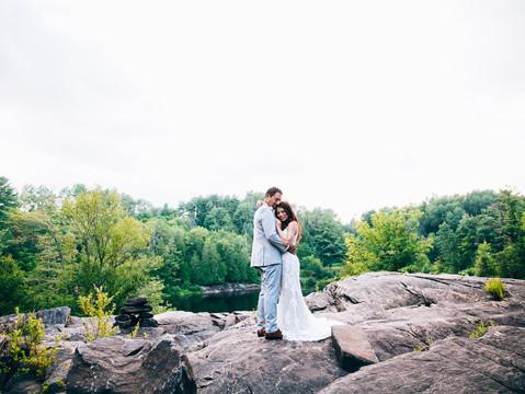 Suzie & David's Backyard Cottage Wedding | Bracebridge, Ontario