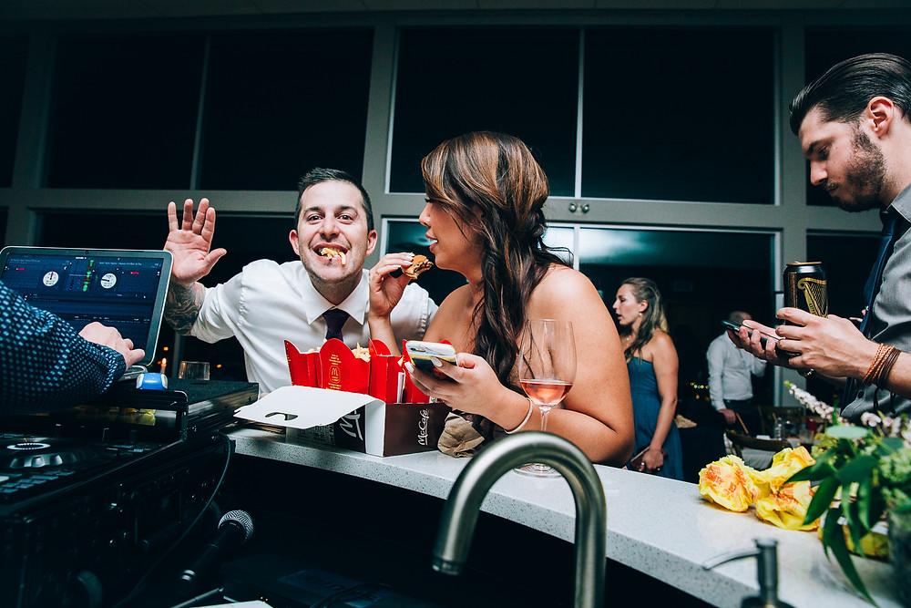 mcdonalds at wedding