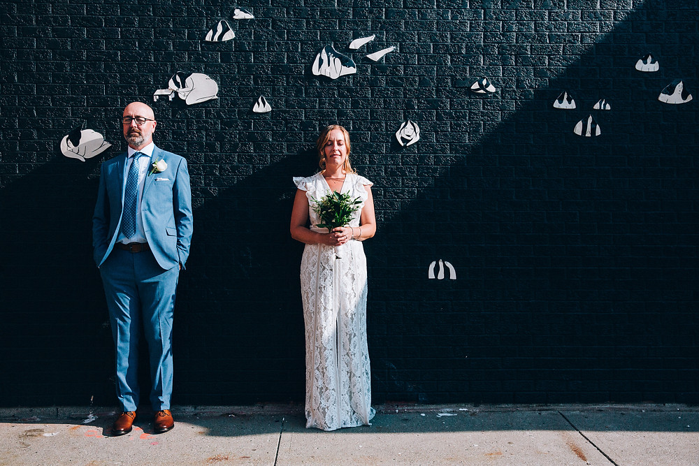 contemporary wedding portrait