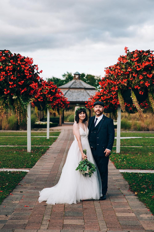 Toronto autumn wedding portrait