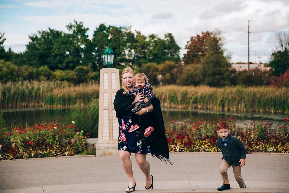 Toronto outdoor autumn wedding