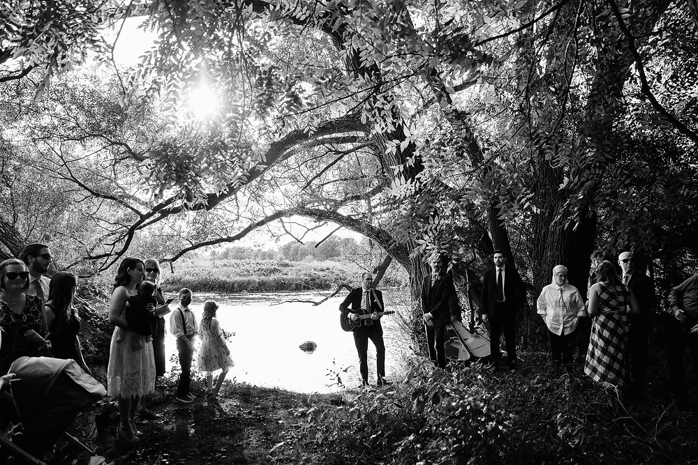 Grand River outdoor wedding