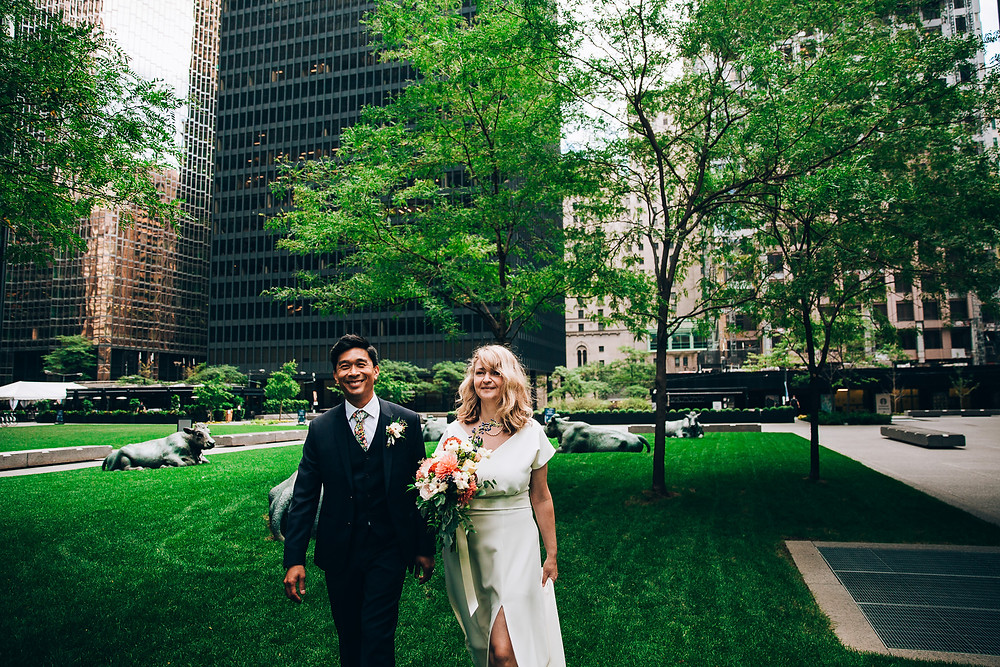 Downtown Toronto wedding portraits