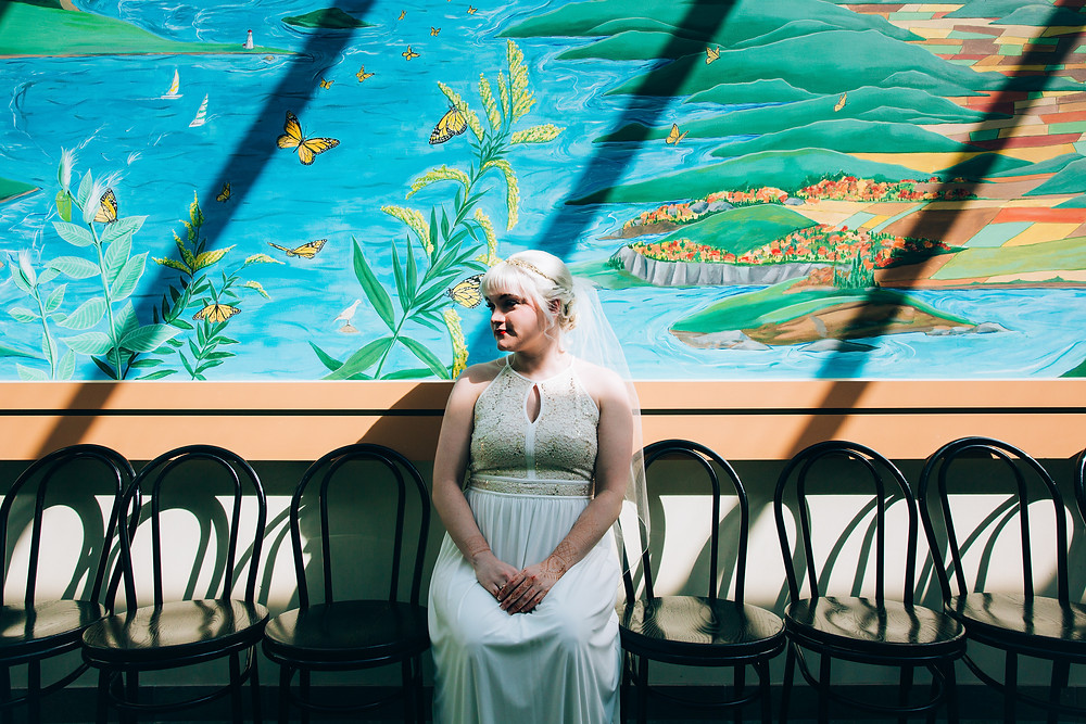 Butterfly conservatory wedding