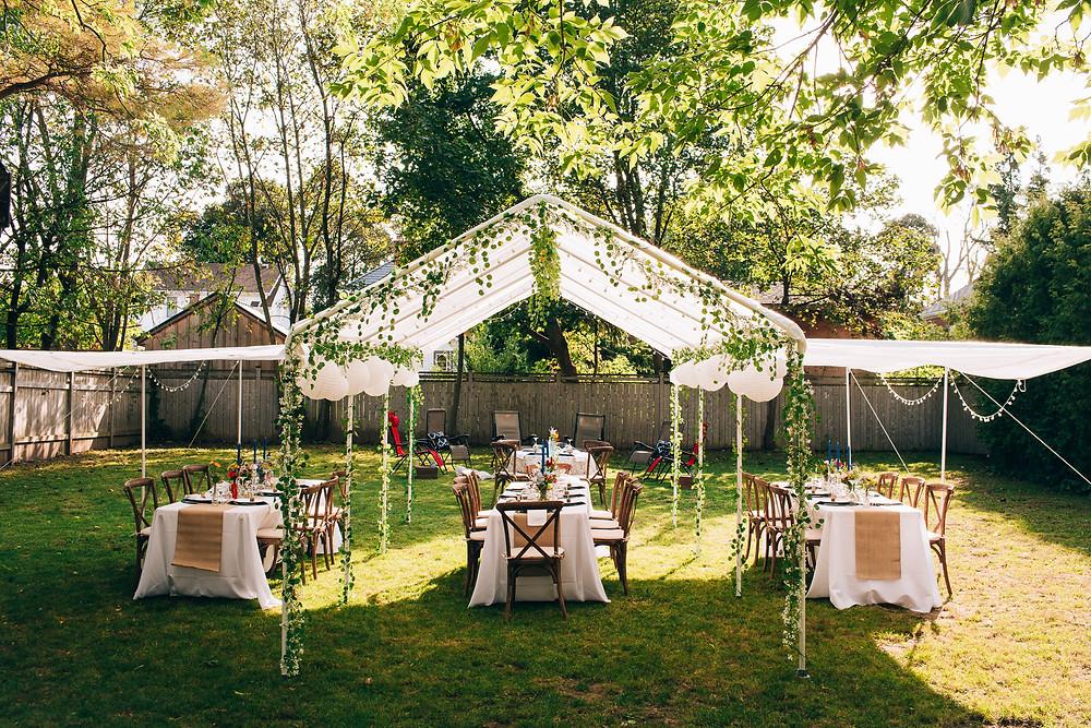 DIY intimate backyard wedding