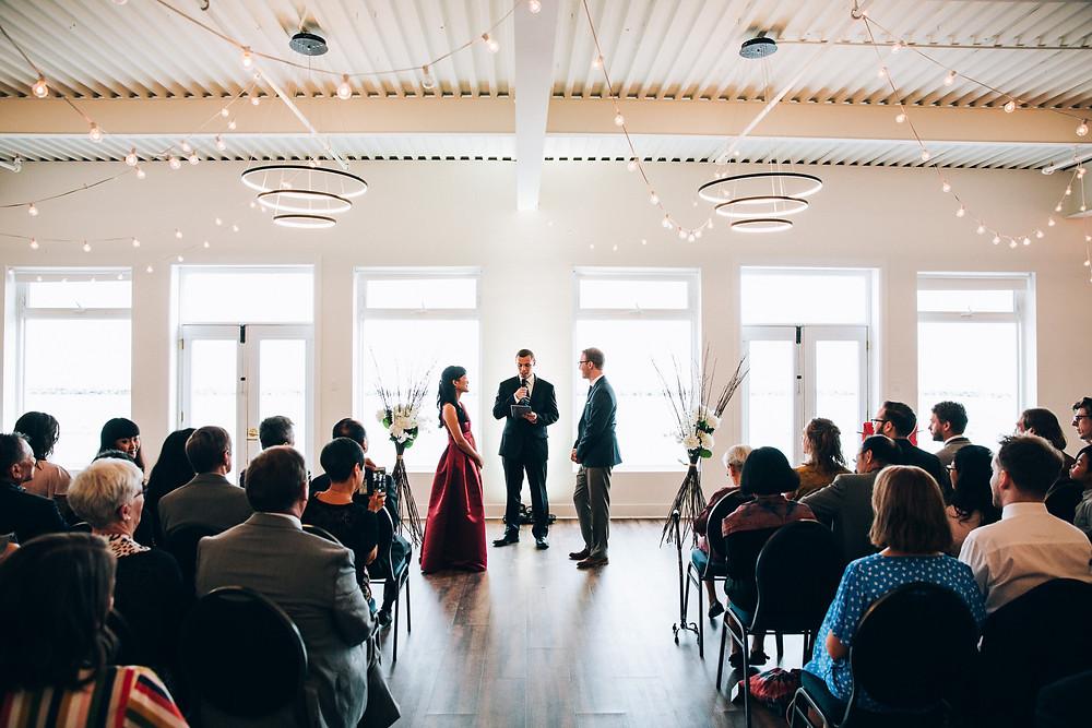 wedding ceremony at Toronto Argonaut rowing club