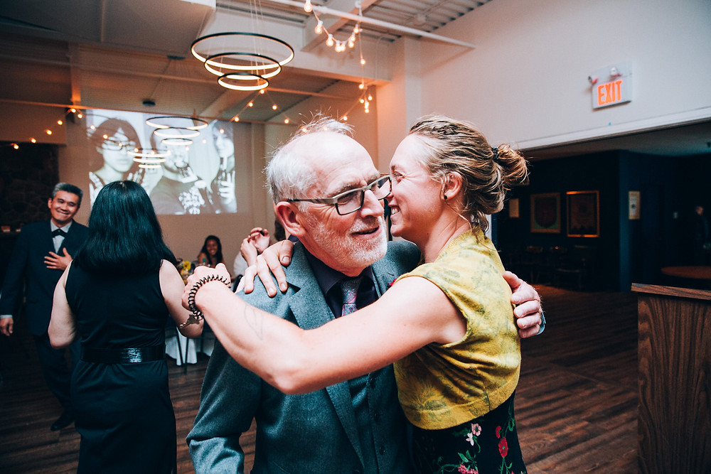 father and daughter dancing at a wedding