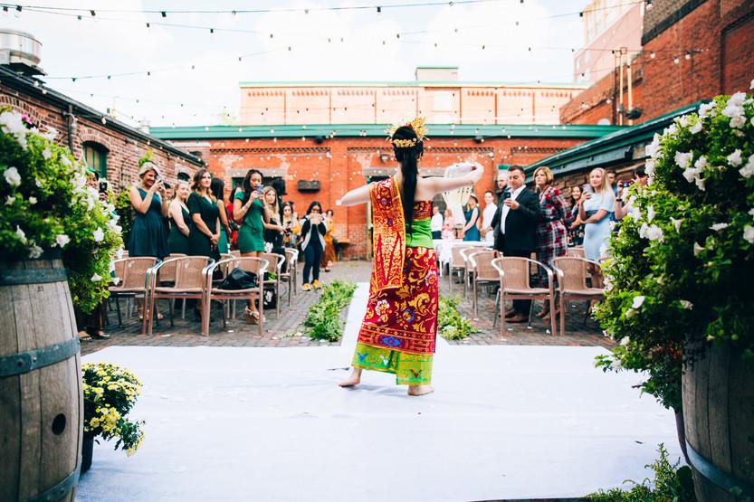 Archeo wedding Toronto distillery district
