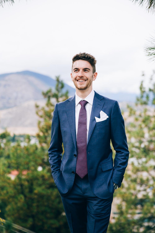 Groom portrait Okanagan BC