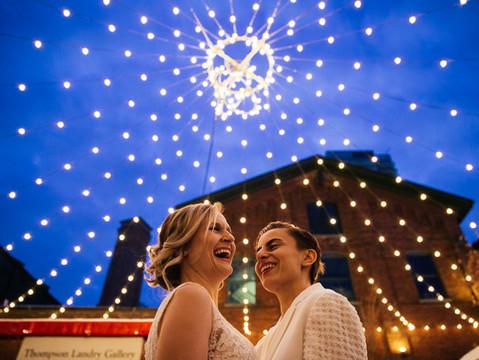 Iris & Ascena's Distillery District Winter Wedding | Toronto, Canada