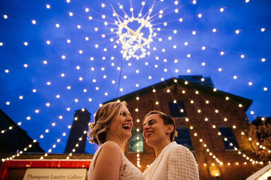 Wedding Portrait Distillery District Toronto