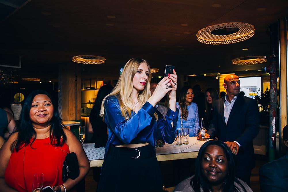 cell phone photos at wedding