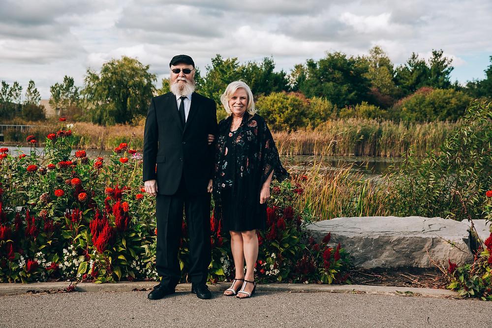 outdoor toronto autumn wedding