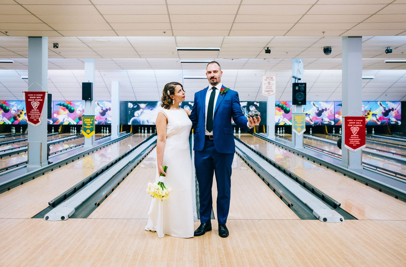 bowling alley wedding