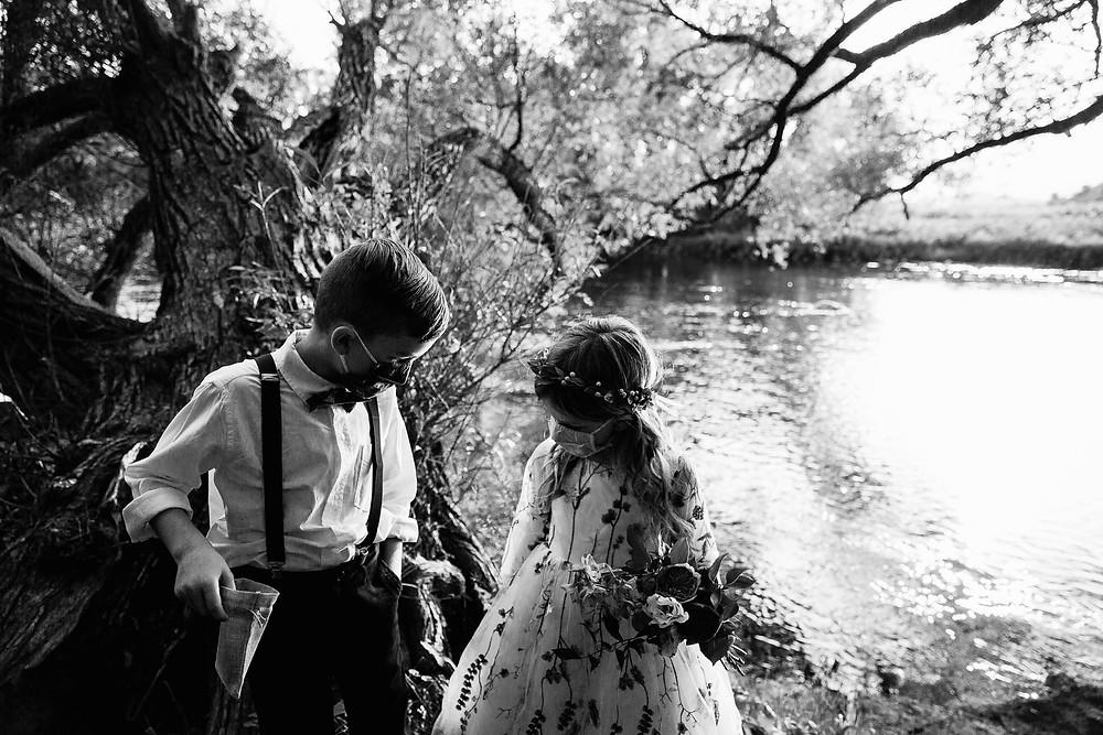 Flowe Girl Ring Bearer wedding masks covid