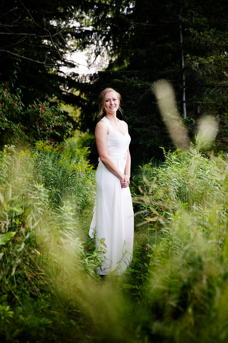 bridal portrait on toronot island