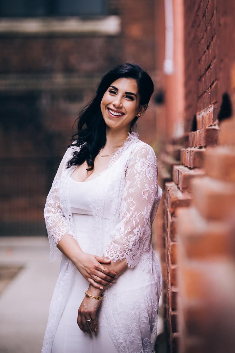 modern bride portrait in toronto