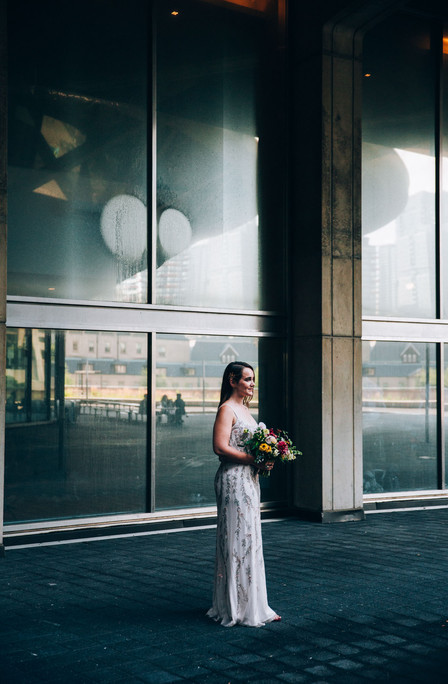 Bride portrait at Toronto city hall