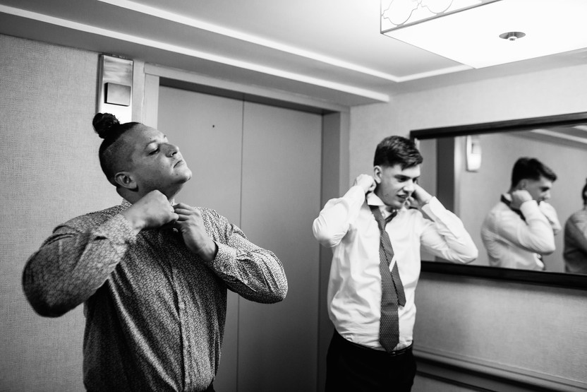 groomsmen getting ready before the wedding
