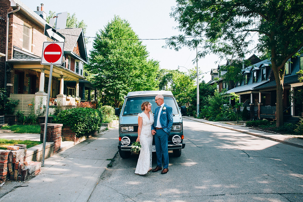 VW westfalia wedding