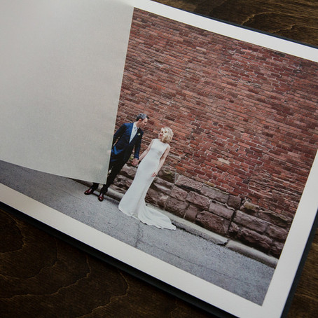 Classic Handmade Linen Wedding Album | Made in Canada