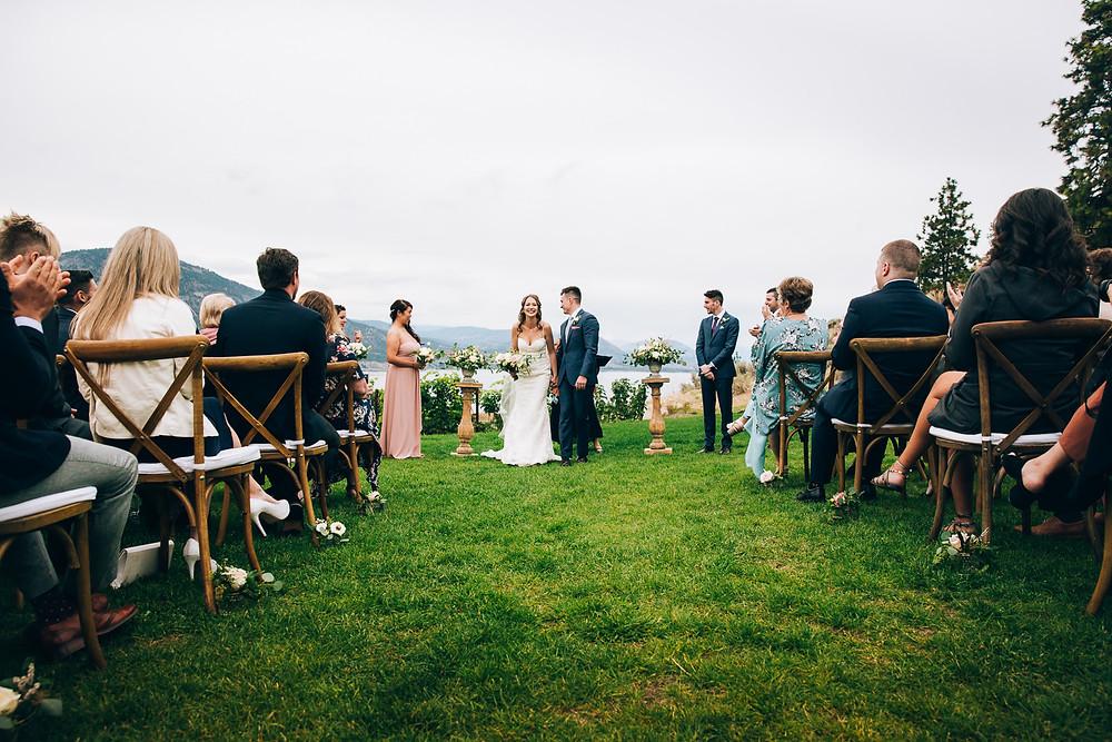outdoor wedding british columbia