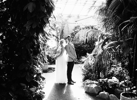 Janet & Dylan's Butterfly Conservatory Elopement Portraits | Cambridge, Ontario