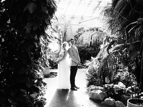 Janet & Dylan's Butterfly Conservatory Elopement Portraits   Cambridge, Ontario