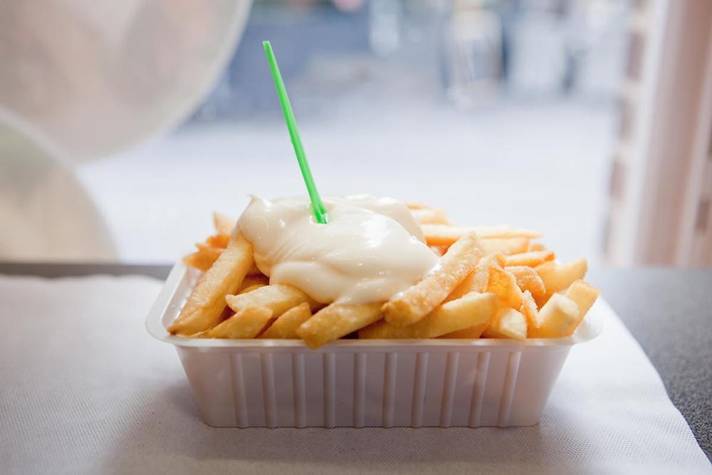 frites fries belgium