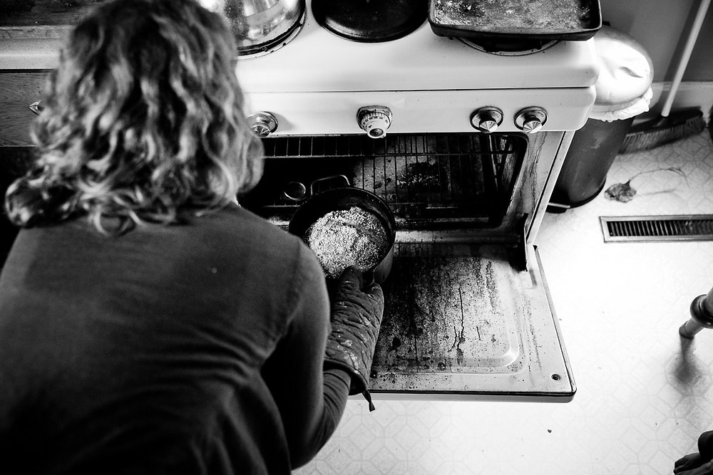 mother baking bread beaver valley