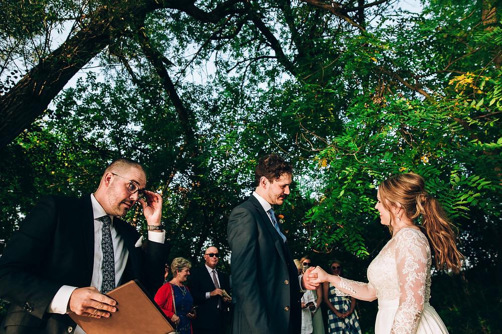 River side wedding