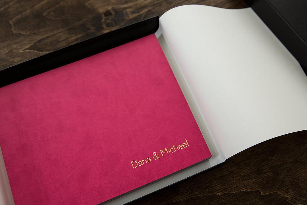 pink wedding album