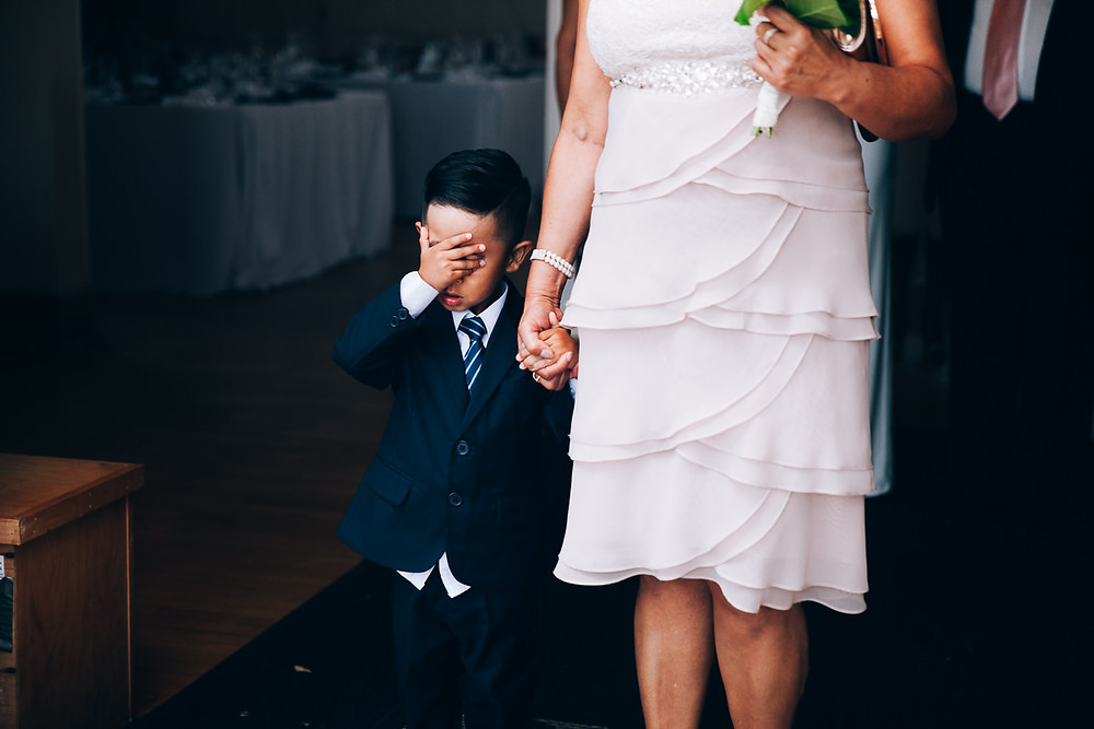 shy ring bearer