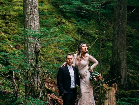 Ashley & Brent's Mini Forest Wedding   Revelstoke, British Columbia