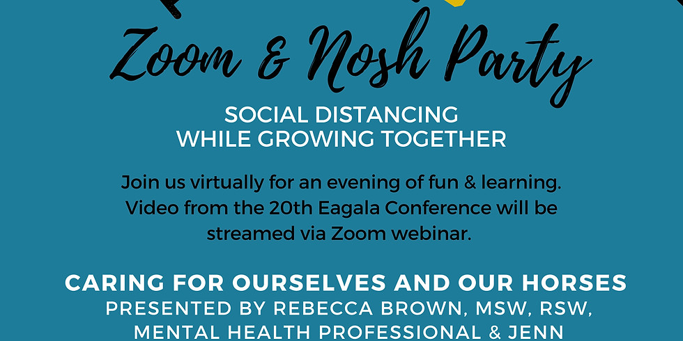 Zoom & Nosh Party - Caring for Ourselves and our Horses