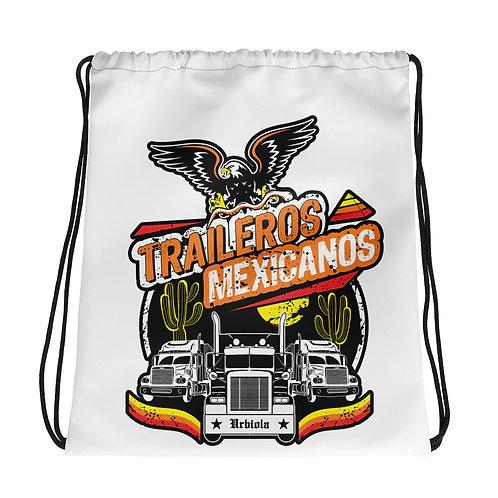 Mochila con cordones traileros