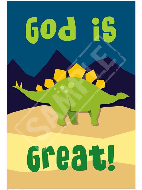 Dino printable poster