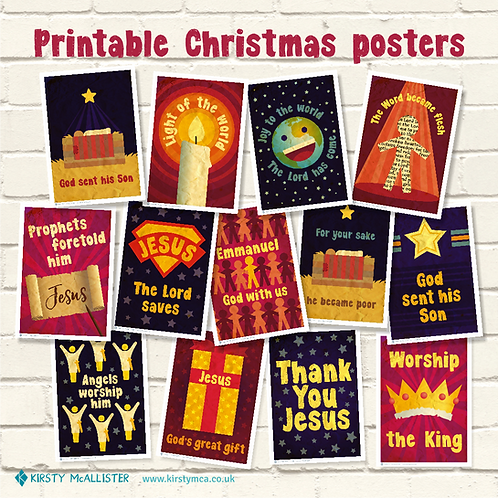 Christmas printable poster bundle