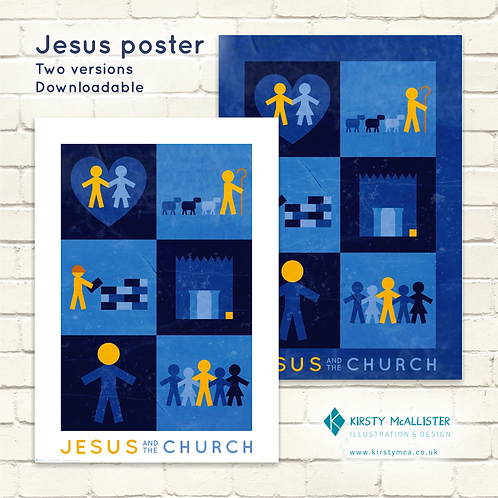 Jesus & the Church printable poster