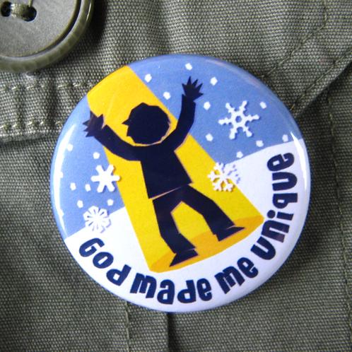 Pin badge - God made me unique