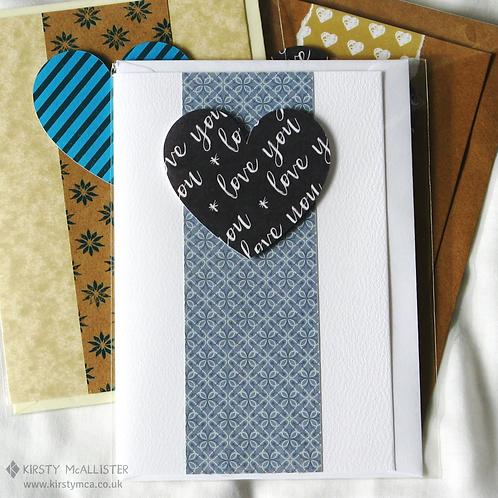 Heart handmade greeting card (assorted)